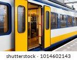 Yellow Dutch Train On The...