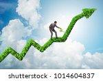 businessman in responsible... | Shutterstock . vector #1014604837