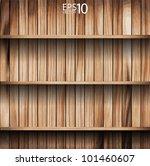 vector wooden shelves background | Shutterstock .eps vector #101460607