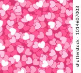 seamless pattern with pink... | Shutterstock .eps vector #1014607003