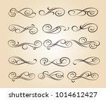 set of decorative elements.... | Shutterstock .eps vector #1014612427