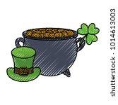 gold pot design | Shutterstock .eps vector #1014613003