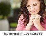 mature unhappy woman.   Shutterstock . vector #1014626353