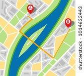 city map of an imaginary city... | Shutterstock .eps vector #1014632443