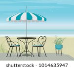 Summer Scene Bistro Table And...