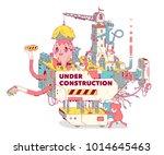 under construction web site... | Shutterstock .eps vector #1014645463