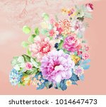 flowers carry the scent of... | Shutterstock . vector #1014647473