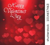 happy valentines day poster... | Shutterstock .eps vector #1014657463