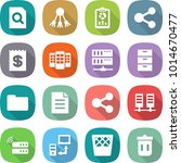 flat vector icon set   search... | Shutterstock .eps vector #1014670477