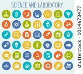 science and laboratory icon set | Shutterstock .eps vector #1014673477