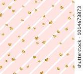 gold heart seamless pattern.... | Shutterstock .eps vector #1014673873