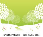 seamless forest in spring on...   Shutterstock .eps vector #1014682183