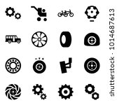 origami style icon set   gears...   Shutterstock .eps vector #1014687613