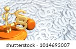 law concept the original 3d... | Shutterstock . vector #1014693007