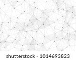 white background with points ... | Shutterstock .eps vector #1014693823