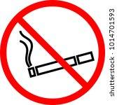 no smoking icon  no smoking... | Shutterstock .eps vector #1014701593