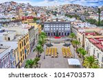 panoramic view of historical... | Shutterstock . vector #1014703573