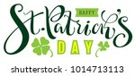 happy st. patrick's day text...   Shutterstock .eps vector #1014713113