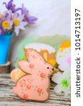 easter gingerbread cookies | Shutterstock . vector #1014713197