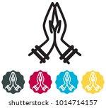 namaste icon   illustration | Shutterstock .eps vector #1014714157