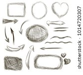 a set of hand drawn frames.... | Shutterstock . vector #1014720307