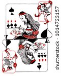 the queen of spades directs... | Shutterstock . vector #1014723157