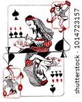 the queen of spades directs... | Shutterstock . vector #1014723157