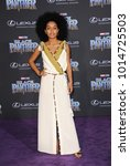 yara shahidi at the world... | Shutterstock . vector #1014725503