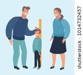 vector cartoon illustration of... | Shutterstock .eps vector #1014732457
