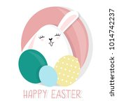 cute and colorful happy easter... | Shutterstock .eps vector #1014742237