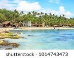 sunny panorama of dominicus...   Shutterstock . vector #1014743473