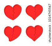 3d broken heart shape icon  ... | Shutterstock .eps vector #1014745567