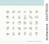 line icons collection of human... | Shutterstock .eps vector #1014750133