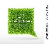 summer bubble for speech  green ... | Shutterstock .eps vector #101475457