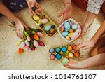 girlfriends playing with  rabbit | Shutterstock . vector #1014761107