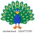 cartoon beautiful peacock  | Shutterstock .eps vector #1014771787