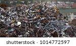 mountain of scrap metal  ... | Shutterstock . vector #1014772597