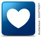 heart icon isolated on blue... | Shutterstock . vector #1014774247