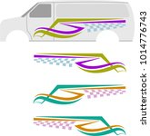 vehicle graphics  stripe  ... | Shutterstock .eps vector #1014776743