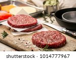 on a wooden cutting board on... | Shutterstock . vector #1014777967
