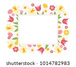 easter greeting card with... | Shutterstock .eps vector #1014782983