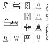 street icons. set of 13... | Shutterstock .eps vector #1014783427