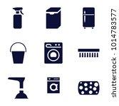 household icons. set of 9... | Shutterstock .eps vector #1014783577