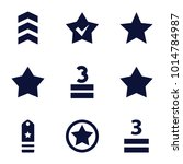 rating icons. set of 9 editable ...