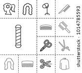 hairdresser icons. set of 13... | Shutterstock .eps vector #1014785593