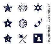 star icons. set of 9 editable... | Shutterstock .eps vector #1014786187