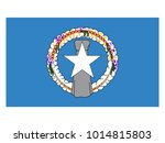flag of northern mariana islands | Shutterstock .eps vector #1014815803