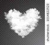 realistic vector cloud heart.... | Shutterstock .eps vector #1014822523