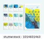 calendar 2018. abstract modern... | Shutterstock . vector #1014831463