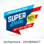 presidents' day super sale... | Shutterstock .eps vector #1014836617